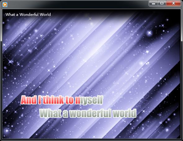 Karaoke plugin for Windows Media Player 12/11/10/9 and Winamp 5, supports LRC, MIDI, KAR, VL lyrics files.